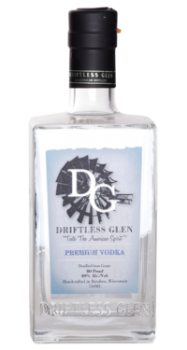 Driftless Glen Premium Vodka bottle.