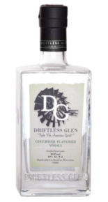 Driftless Glen Cucumber Vodka bottle.
