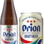 Orion beer can and bottle.